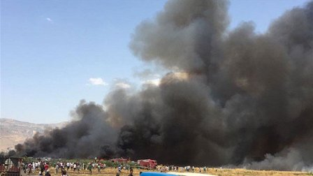 اندلاع حريق بحافلة في كازاخستان...ومقتل 52 راكبا