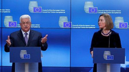 عباس يدعو دول الاتحاد الاوروبي للاعتراف بفلسطين كدولة مستقلة... وهذا ما اكدته موغيريني