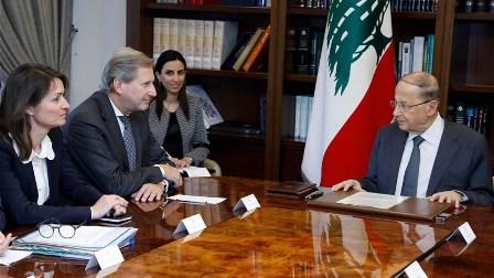 عون: لتحويل الوعود التي تلقاها لبنان من المجتمع الدولي الى خطوات عملية