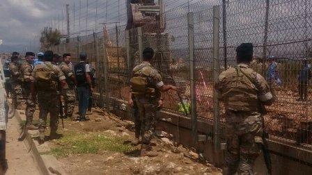 الجيش يطلب من جيش  العدو الاسرائيلي  التوقف عن العمل عند نقطة بوابة فاطمة