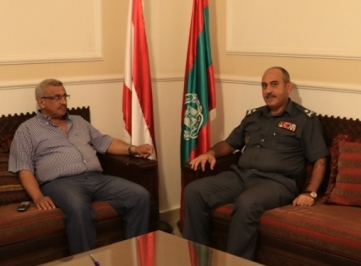 الدكتور أسامة سعد يلتقي العميد سمير شحادة