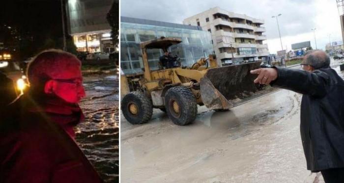 نائب الشعب وحبيب الفقراء اسامة سعد على الارض ليلاً نهاراً لمساعدة الناس في مواجهة العاصفة
