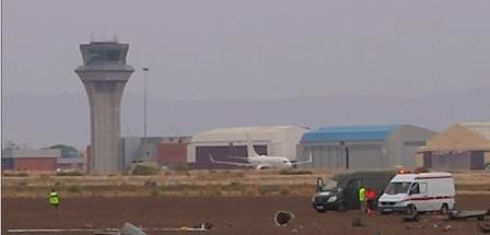 سقوط مقاتلة من نوع F-18 في قاعدة عسكرية بالقرب من مدريد