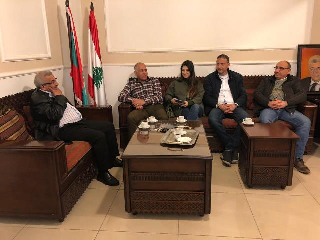 أسامة سعد يستقبل وفداً من منسقية التيار الوطني الحر في قضاء صيدا