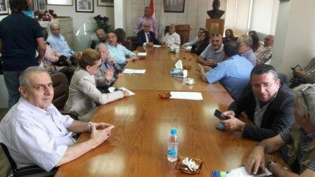 جلسة استثنائية لنقابة محرري الصحافة اللبنانية بحضور الزميل أحمد الغربي - صورتان