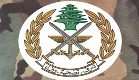 الجيش: توقيف شخص في الليلكي لقيامه باطلاق النار بوقت سابق
