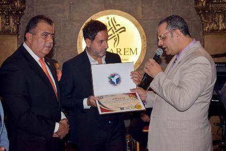 المنظمة العالمية للسلام والتنمية الديبلوماسية تكرم امير يزبك وتمنحه لقب سفير النوايا الحسنة