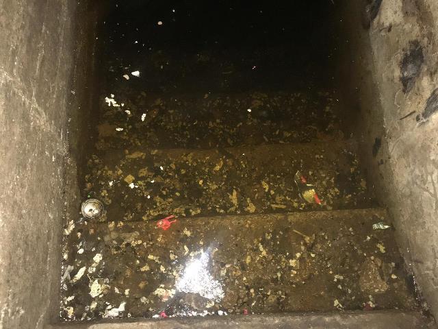بالفيديو والصور.. طوفان مياه الصرف الصحي في بنايات تعمير عين الحلوة