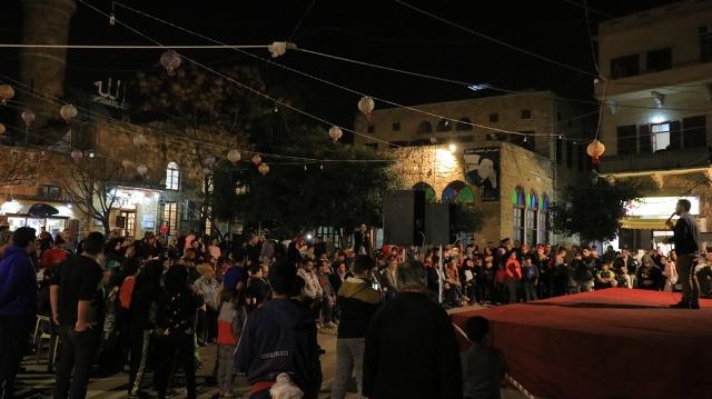 بالصور.. احتفال تضامني مع القدس الشريف في ساحة باب السراي في صيدا القديمة