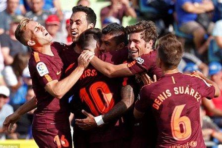 فوز صعب لبرشلونة على خيتافي