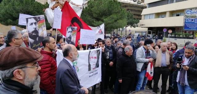 بالصور: الاعتصامات المتضامنة مع قضية جورج عبدالله متواصلة