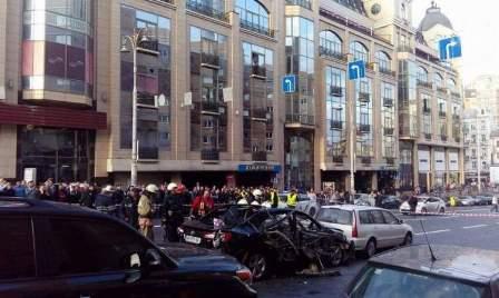 انفجار سيارة وسط العاصمة الأوكرانية كييف