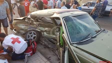 قتيل واربعة جرحى في حادث سير مروع عند مدخل صيدا الجنوبي