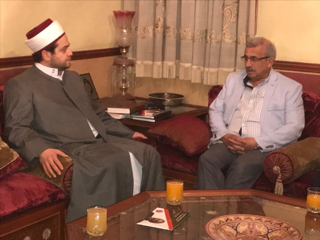 أسامة سعد يزور المفتي مدرار الحبّال والشيخ خضر الكبش