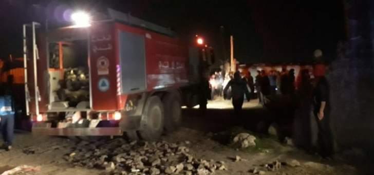 وفاة طفل نتيجة اندلاع حريق داخل مخيم للنازحين في تعنايل
