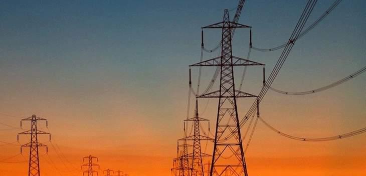 انفصال مجموعات الانتاج في كل لبنان عن الشبكة الكهربائية بسبب الطقس