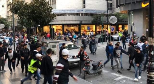 مواجهات بين المتظاهرين والقوى الأمنية في شارع الحمرا