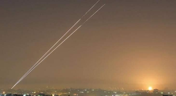إطلاق صواريخ من قطاع غزة ودوي صافرات الإنذار في تل أبيب
