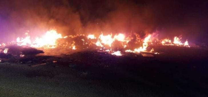 إخماد حريق قرب شركة الغاز في صيدا