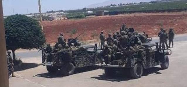 مداهمات للجيش اللبناني لمنازل مطلوبين في الحمودية في بريتال