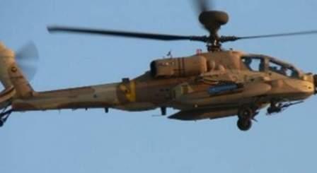 تحليق للطيران المروحي الاسرائيلي فوق سهل الحولا ومزارع شبعا