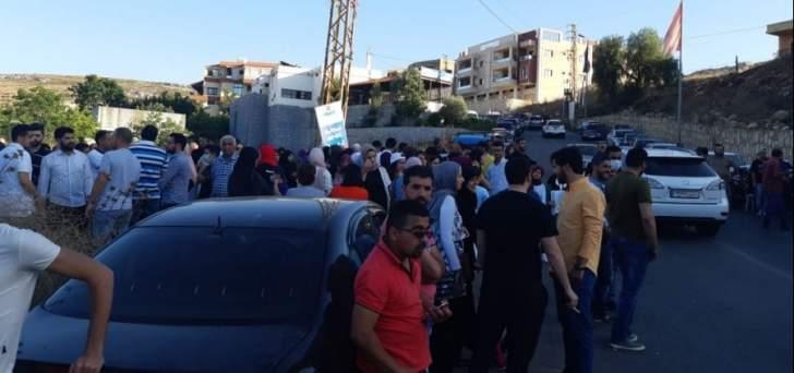 اعتصام في منطقة حبوش احتجاجاً على مكب النفايات
