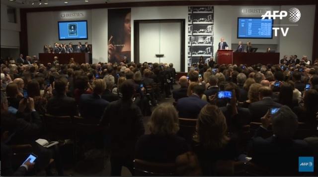 بالفيديو:  بيع لوحة لـ«دافنشي» بـ450 مليون دولار في مزاد بنيويورك