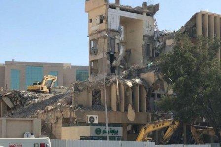 بالصور - قتلى في انهيار مبنى بالرياض!