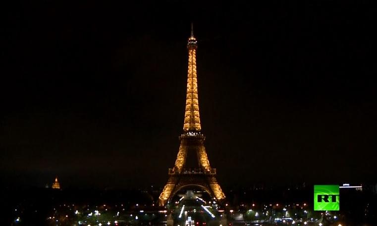 بالفيديو: إطفاء أضواء برج إيفل في باريس حدادا على ضحايا تفجير سان بطرسبورغ