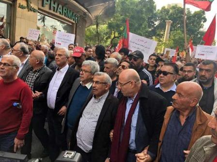 ألف تحية لكم يا من نزلتم الى شوارع بيروت لانقاذ الوطن من الانهيار