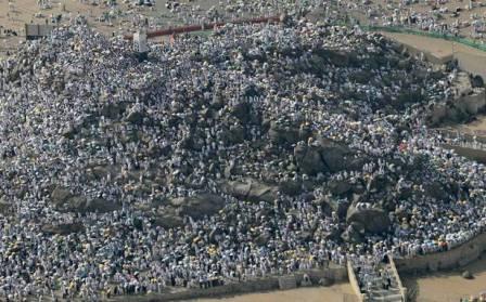 مليونا مسلم الى جبل عرفات