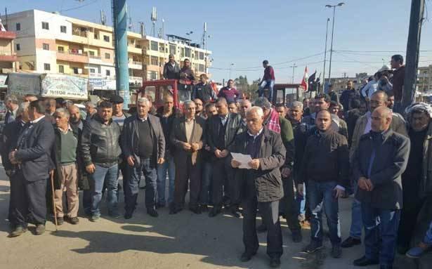 مزارعو البطاطا في عكار اعتصموا احتجاجاً على إغراق الأسواق بالاستيراد