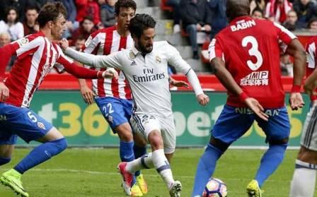 البطولات الأوروبية في كرة القدم : إيسكو يقود ريال مدريد الى الفوز على سبورتينغ خيخون (3-2)