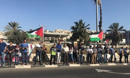 إسنادًا للأسرى: وقفات بعدة بلدات عربية في فلسطين المحتلة- فيديو وصور