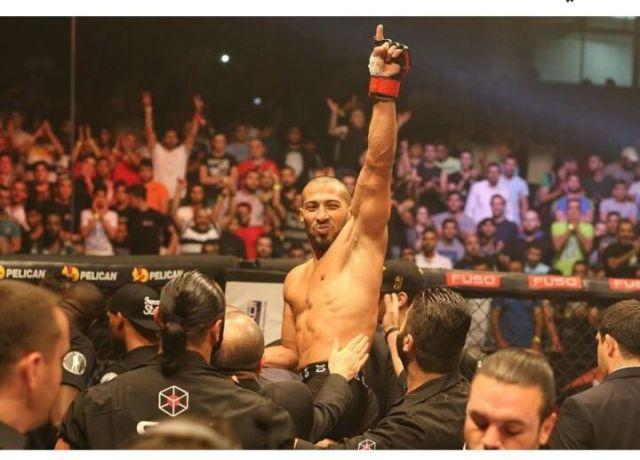 فوز البطل الصيداوي محمد الغربي ببطولة MMA
