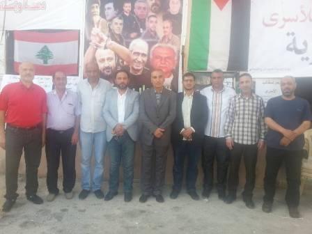 وفد من حزب الله زار مخيمات صور مهنئا بانتصار إضراب الكرامة