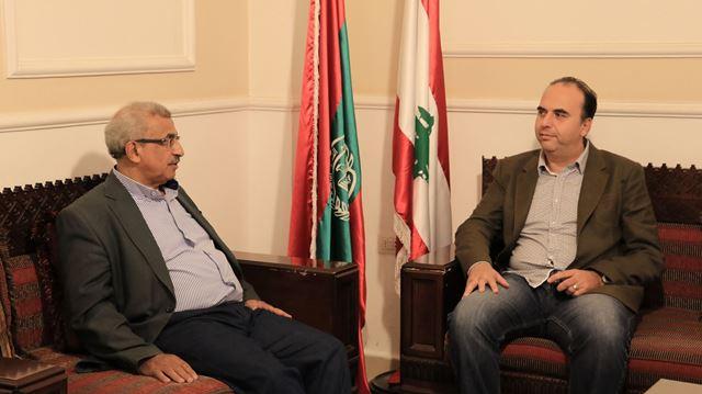 أسامة سعد تناول مع المدير العام لمؤسسة مياه لبنان الجنوبي تطوير أوضاع المؤسسة وتحسين أدائها وخدماتها