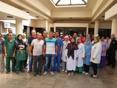 الحركة الاحتجاجية تتصاعد في مستشفى صيدا الحكومي ووجهتها الاضراب العام