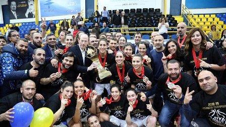 الرياضي بيروت بطلاً لمؤسسة مقدسي في كرة السلة على حساب هومنتمن انطلياس
