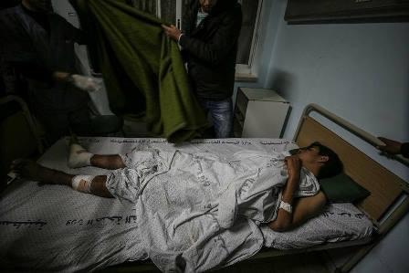 إصابات نتيجة قصف طائرات الاحتلال الصهيوني جنوب قطاع غزة، الليلة الماضية