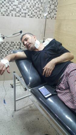 الجريح فادي حمد ابو عرب اصيب في مخيم عين الحلوة وهو مدني