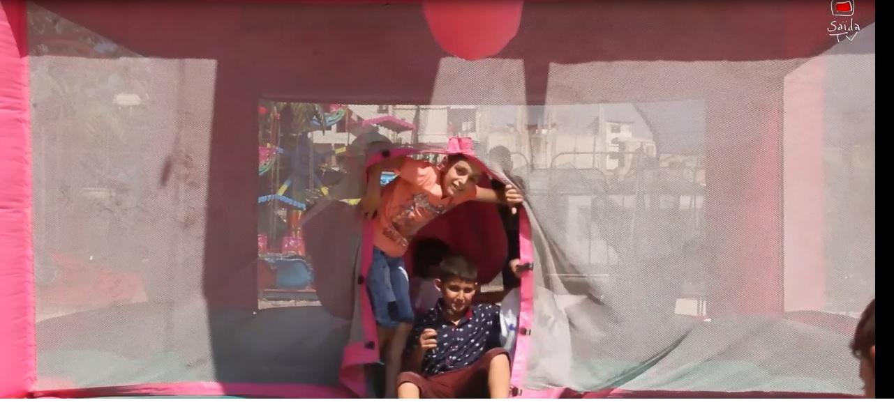 بالفيديو.. أجواء عيد الفطر في عيون أطفال مخيم عين الحلوة
