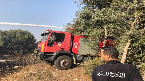 حريق كبير في #بشمزين التهم اشجاراً من الزيتون والسنديان