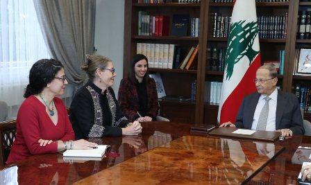 الرئيس عون استقبل منسقة الأمم المتحدة في لبنان وعرض معها الوضع في الجنوب