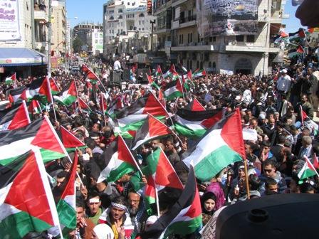 اعتصامات فلسطينية في الضفة وغزة رفضاً لزيارة نائب الرئيس الامريكي