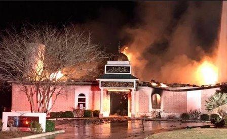 إلقاء قنبلة حارقة على أحد المساجد بولاية أميركية!