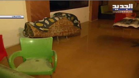 المشاريع السكنية في منطقة المدارس في بشامون تغرق بمياه الأمطار