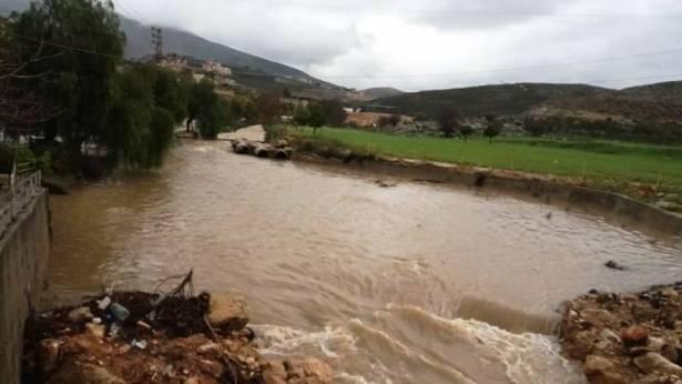كثافة الامطار أدّت الى تفجر الينابيع وارتفاع منسوب مياه الليطاني
