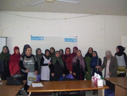 مكتب المرأة الحركي في لبنان يُكرم مُربيات رياض الأطفال في مخيمات صيدا