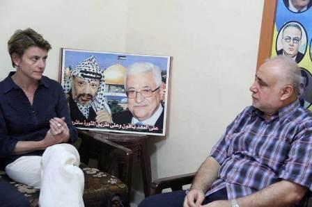 العميد ماهر شبايطة يلتقي نائب المدير العام للأنروا في لبنان مخيم عين الحلوة